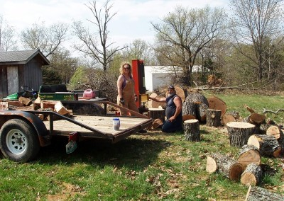Tree removal Joyce Madsen, Kelly Bowring & Dawn Bartholomew[1]